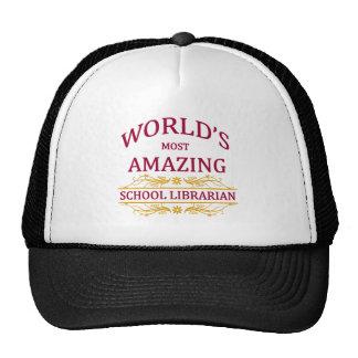 School Librarian Mesh Hats