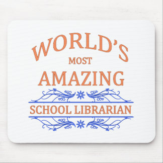 School Librarian Mouse Pad