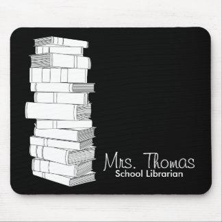 School Librarian Mousepad (Black & White)