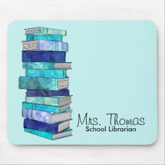 School Librarian Personalized Mousepad (Blue)