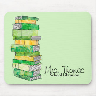 School Librarian Personalized Mousepad (Green)