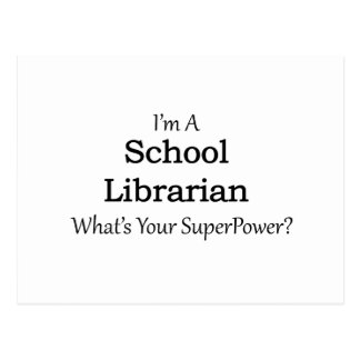 School Librarian Postcard