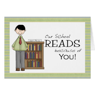 School Librarian Thank You Card