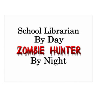 School Librarian/Zombie Hunter Postcard