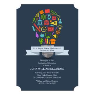 School Light Bulb Graduation Invitation