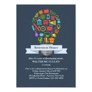 "School Light Bulb Retirement Party Invitation 5"" X 7"" Invitation Card"