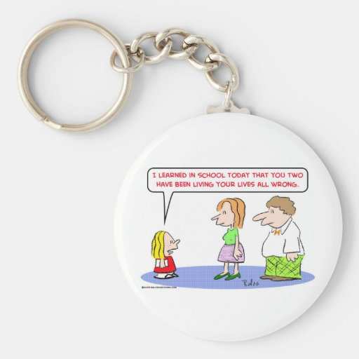school living lives all wrong keychains