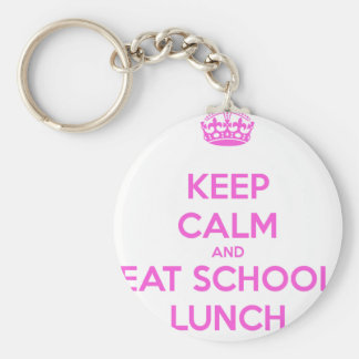 School Lunch Lady Loves Nutrition Basic Round Button Keychain