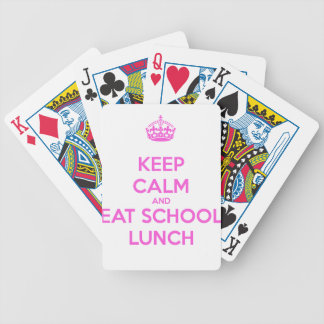 School Lunch Lady Loves Nutrition Bicycle Playing Cards