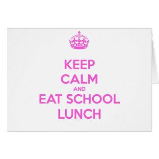 School Lunch Lady Loves Nutrition Card