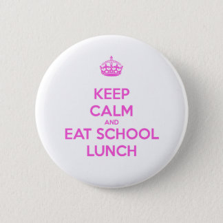 School Lunch Lady Loves Nutrition Pinback Button