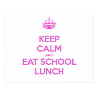 School Lunch Lady Loves Nutrition Postcard