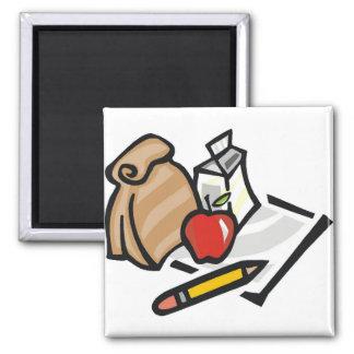 School Lunch Fridge Magnet