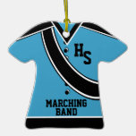 School Marching Band Photo Blue Ornament