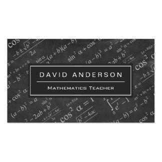School Math Teacher Mathematics Formula Chalkboard Double-Sided Standard Business Cards (Pack Of 100)