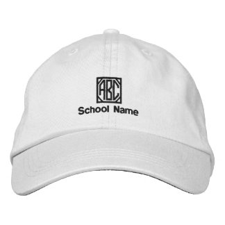 School Name, Your Initials- Embroidered Hat