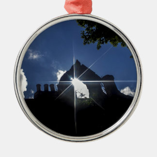 School nook round metal christmas ornament