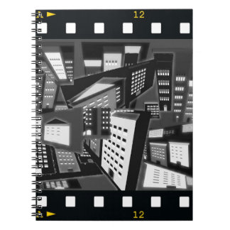 School Notebook with Film Theme