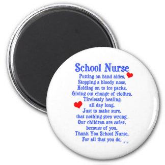 School Nurse 2 Inch Round Magnet
