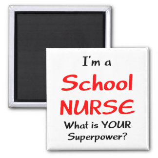 School nurse 2 inch square magnet