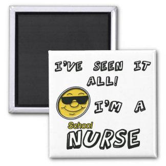 School Nurse 2 Inch Square Magnet