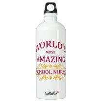 School Nurse Aluminum Water Bottle
