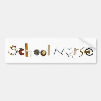 School Nurse Bumper Sticker by MagsGraphics