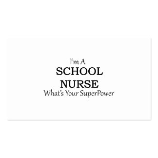 SCHOOL NURSE Double-Sided STANDARD BUSINESS CARDS (Pack OF 100)