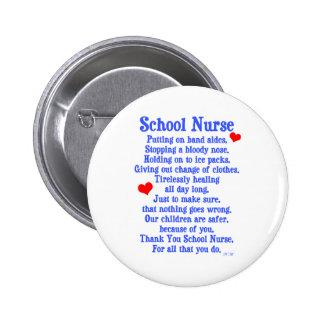 School Nurse 2 Inch Round Button