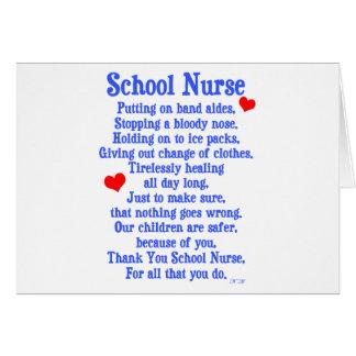 School Nurse Greeting Card