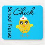 School Nurse Chick v1 Mousepads