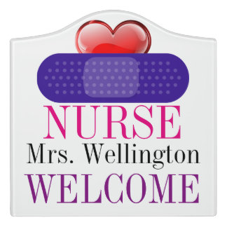 School Nurse Classroom Door Sign