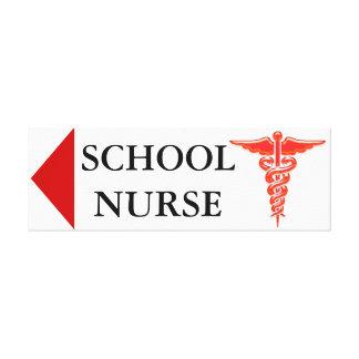 School nurse direction board canvas print
