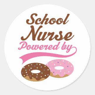 School Nurse Funny Gift Round Sticker