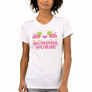 School Nurse Gift Ladybug Tee Shirts