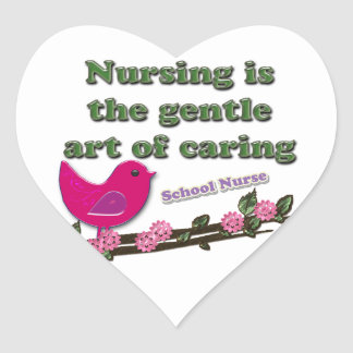 School Nurse Heart Sticker