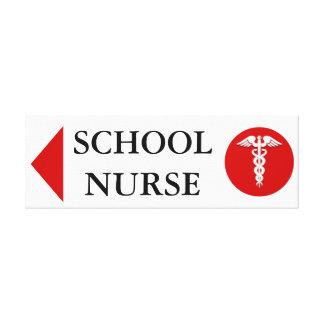 School nurse medical emergency LEFT Canvas Print