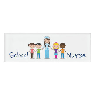 School Nurse Name Tag