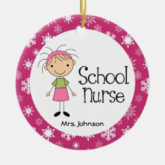 School Nurse Personalized Ornament Gift