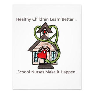 school nurse small flyer