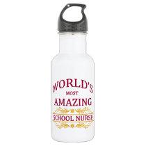 School Nurse Stainless Steel Water Bottle