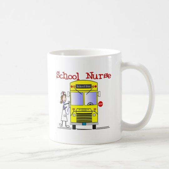 School Nurse Stick People Design Coffee Mug