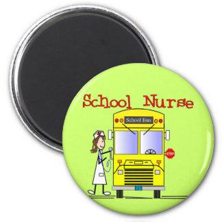 School Nurse Stick People Design Magnet