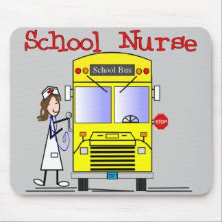 School Nurse Stick People Design Mouse Pad