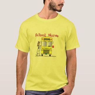 School Nurse Stick People Design T-Shirt