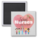 School Nurses Are the Best! (magnet) 2 Inch Square Magnet