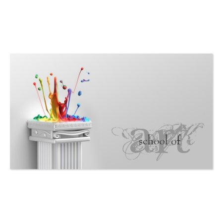 Splashes of Color Art School Business Cards