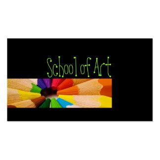 School Of Art Teacher Colorful Pencils Card