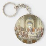 School of Athens Basic Round Button Keychain
