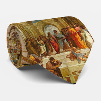 School of Athens by Raphael Neck Tie